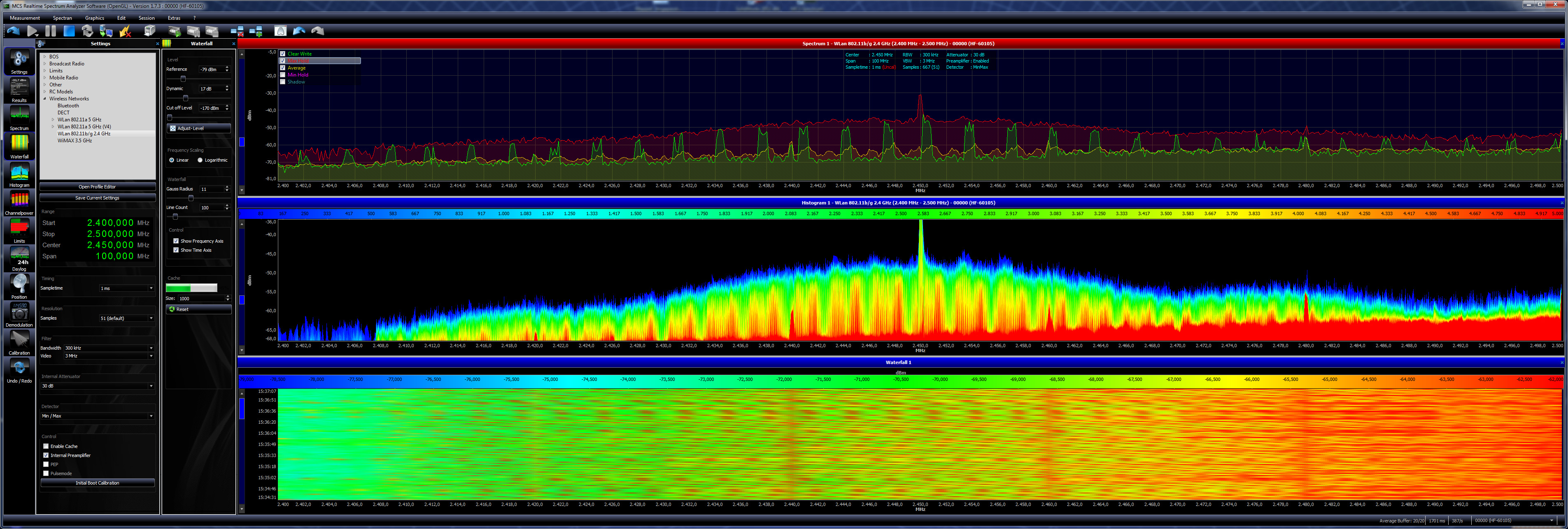 Spectrum Analyzer Software MCS